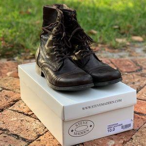 Steve Madden Troopah Boots brown size 10
